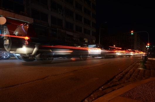 Free stock photo of cars, traffic, night, street