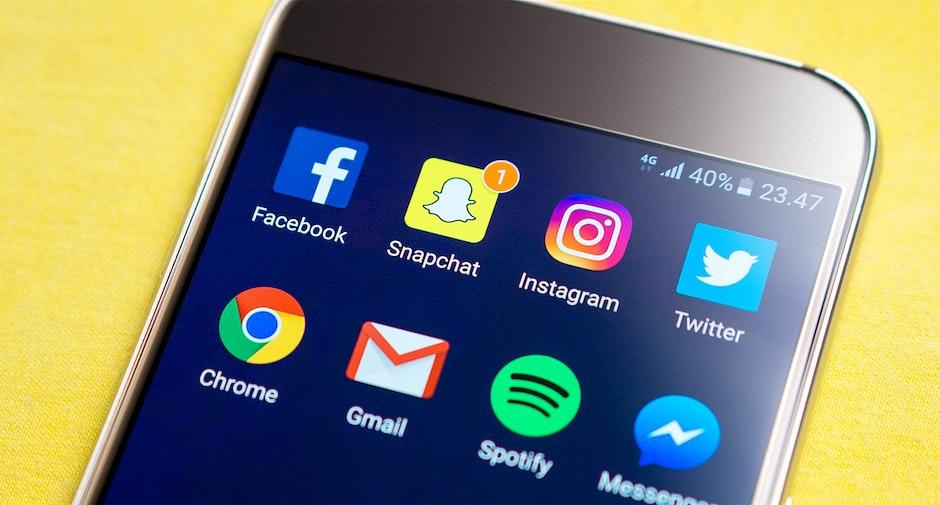 cellphone, display, facebook