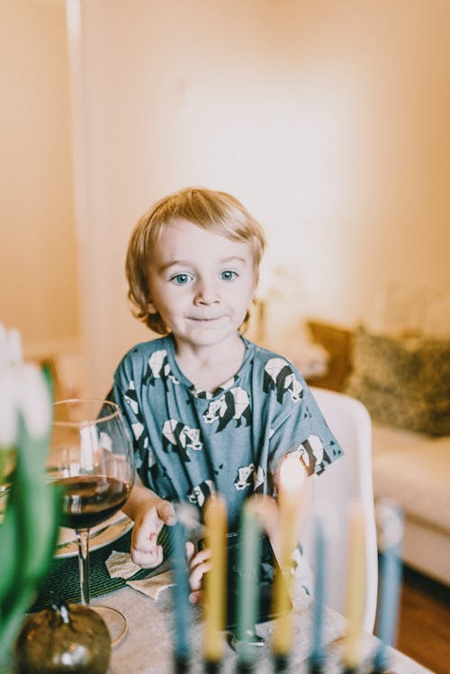 Boy In Blue Pajama Set