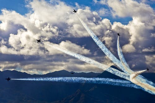 Gratis stockfoto met formatie, hemel, lucht, luchtshow