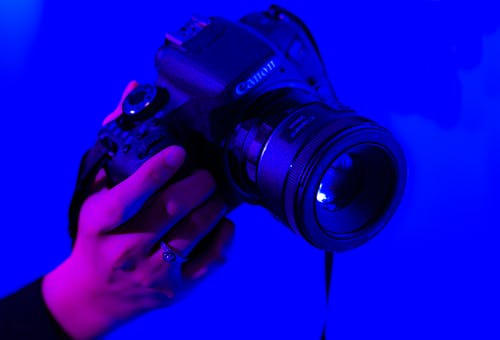 Foto stok gratis biru, canon, dslr, fotografi