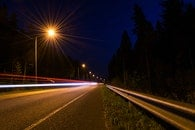 light, road, night