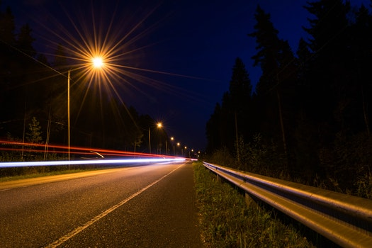 Free stock photo of light, road, night, street