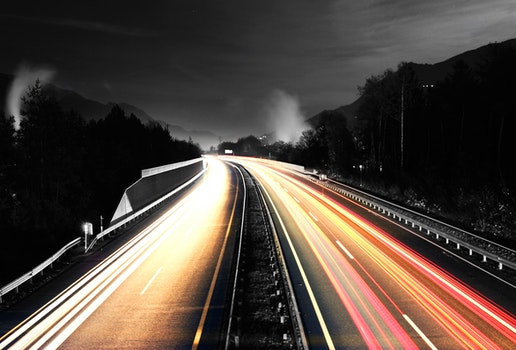 Free stock photo of road, traffic, vehicles, lights