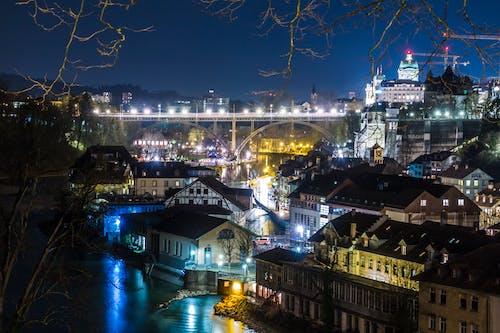 Ingyenes stockfotó belváros, éjszaka, építészet, épületek témában