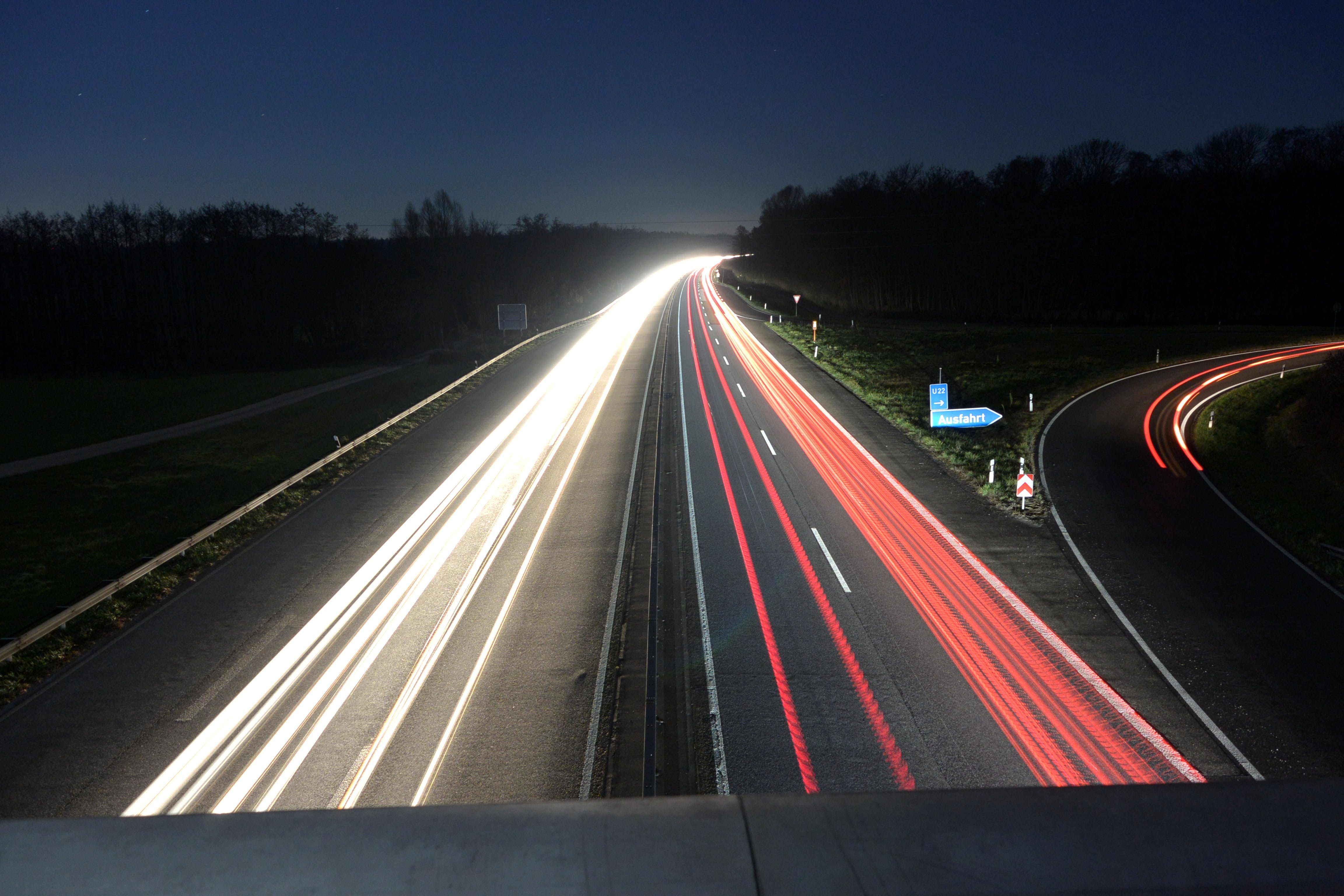 Timelapse of Cars during Nighttime