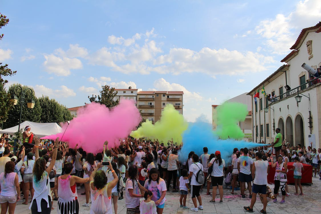 Free stock photo of color run