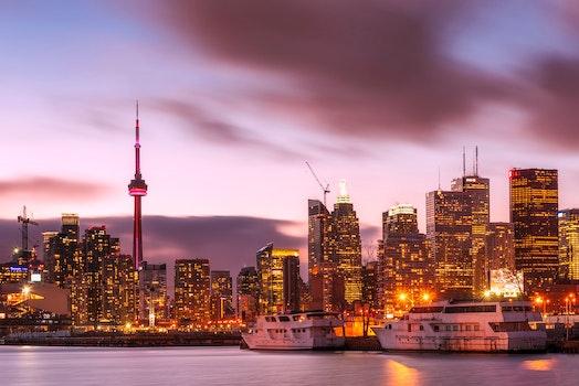 Free stock photo of city, sunset, lights, water