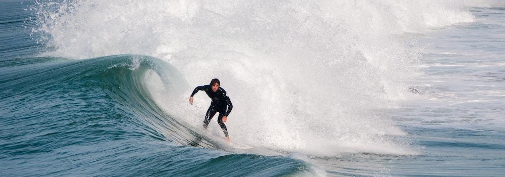 Free stock photo of surfer, ocean, summer, waves