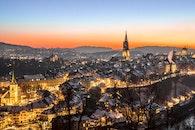 light, city, dawn