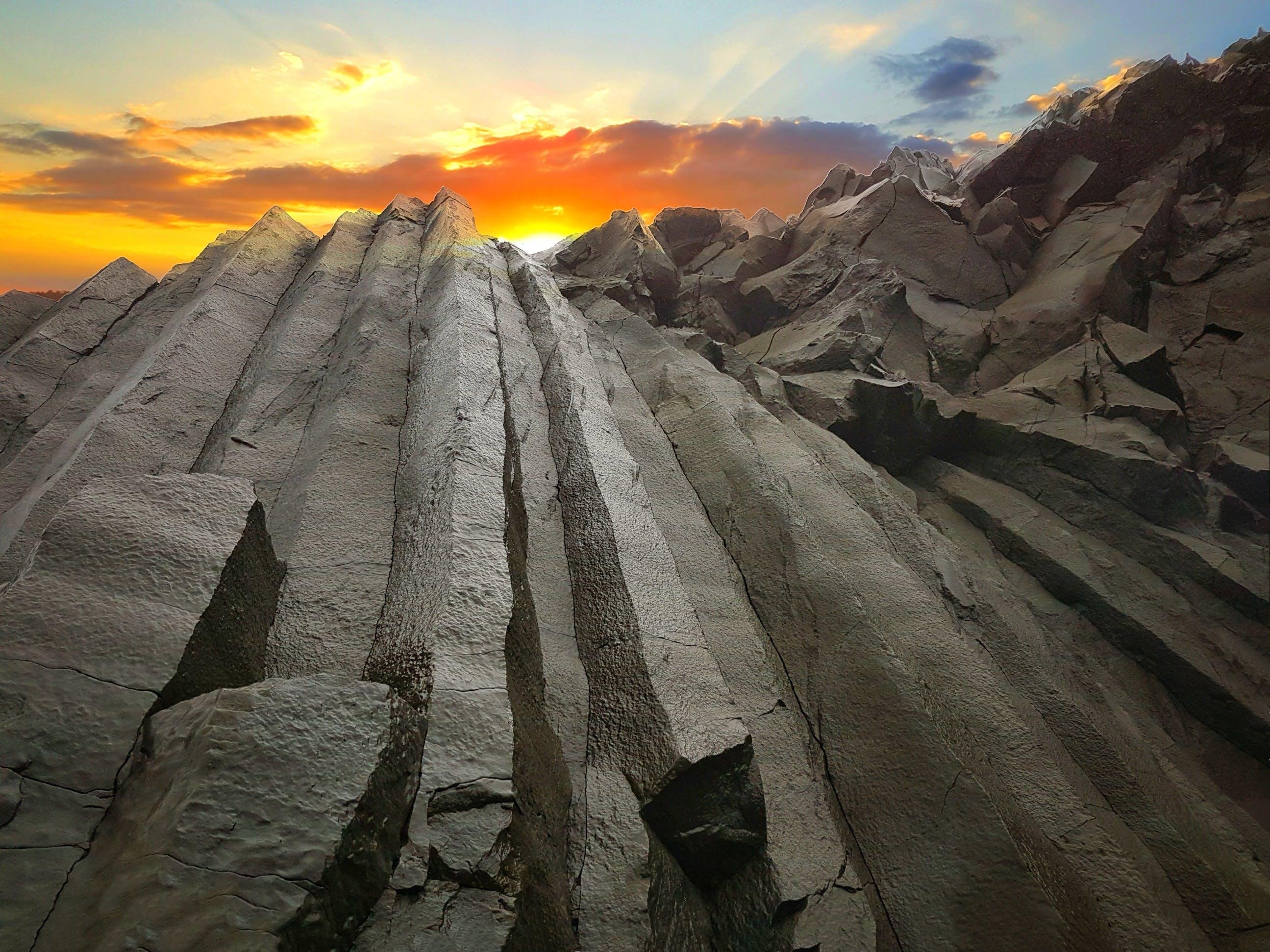 Free stock photo of iceland, sunset, black, rock