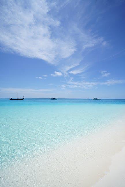 Beach blue sky idyllic island