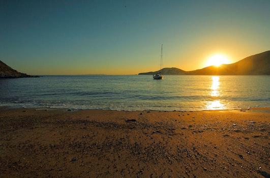 Free stock photo of sunset, beach, ocean, bay