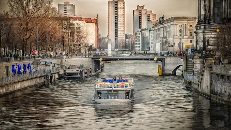 architecture, berlin, boat