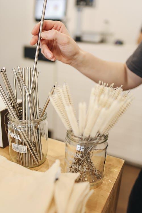 Metal Straws in Jar