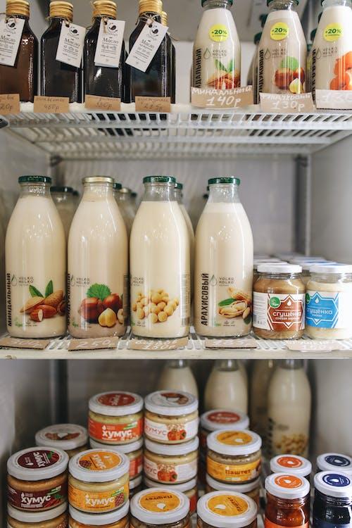 Bottles in Refrigerator