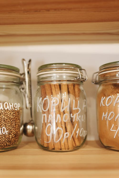 Cinnamon Sticks in Glass Jar