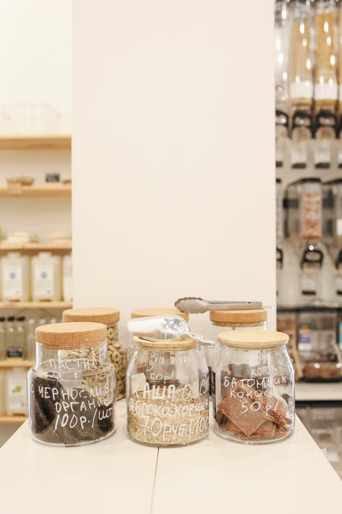 Glass Jars on Counter