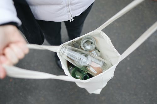 Glass Bottles in Bag