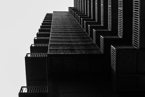 건물 외장, 건축, 건축 설계, 로우앵글 샷의 무료 스톡 사진