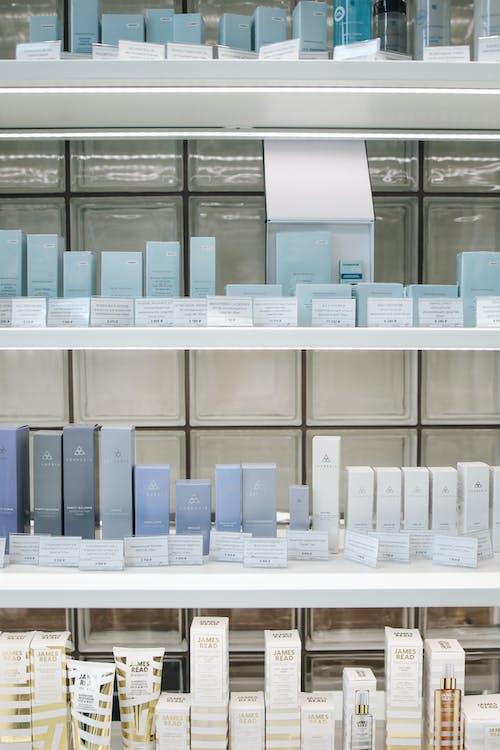 Základová fotografie zdarma na téma dermatologie, displej, kosmetický výrobek, kosmetika