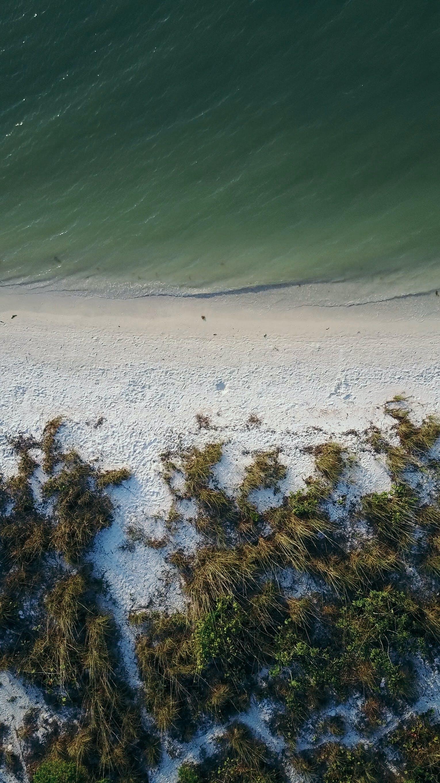 aerial, aerial shot, beach