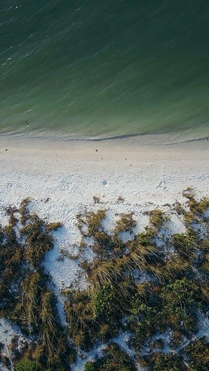 felülről, festői, homok