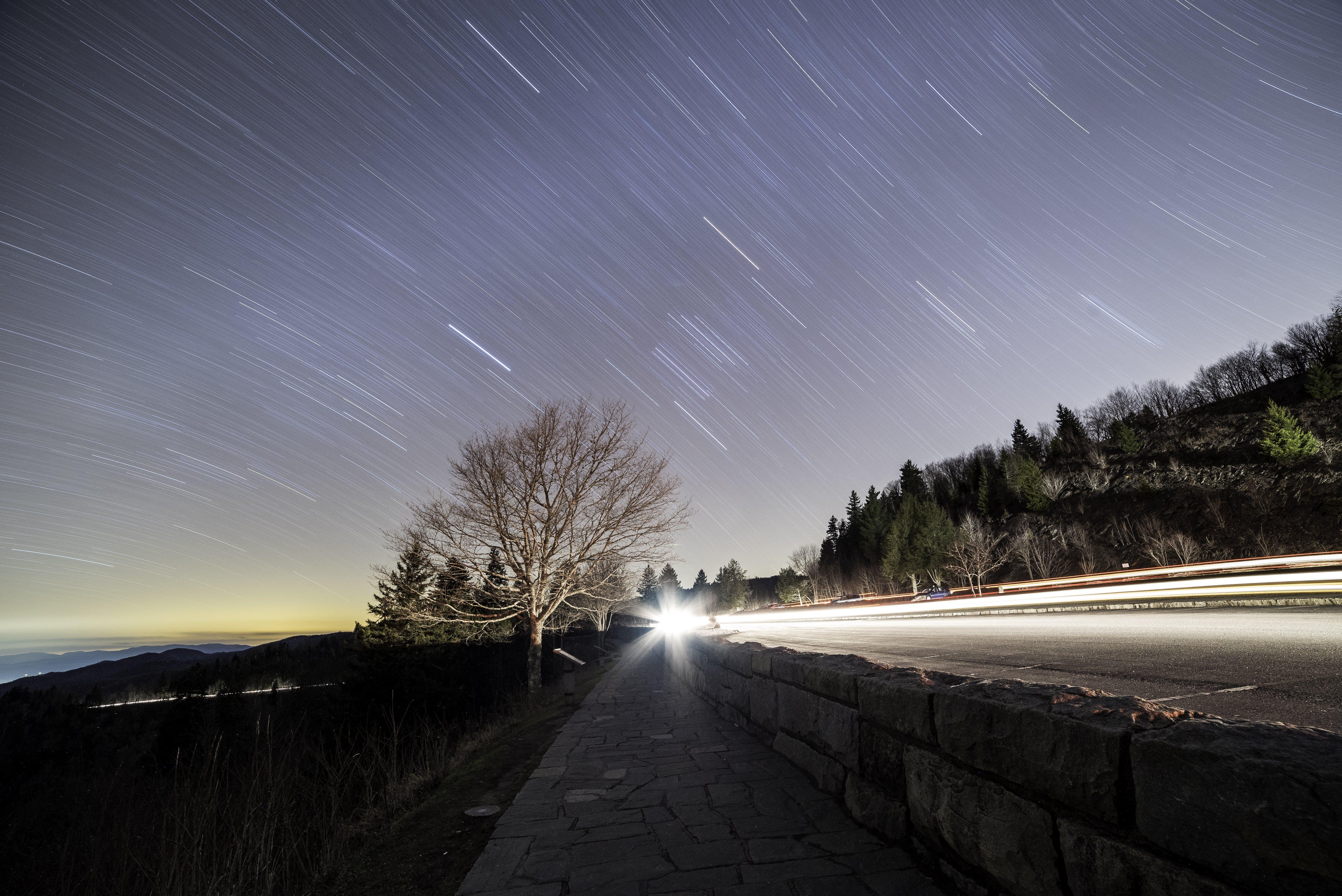 Безкоштовне стокове фото на тему «Астрофотографія, вечір, Вулиця, дерева»