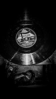Free stock photo of music, white, black, analog
