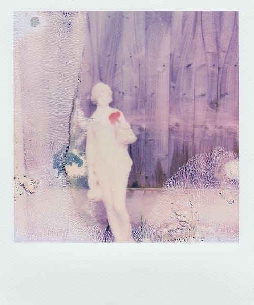 Polaroid Photo Of A Statue