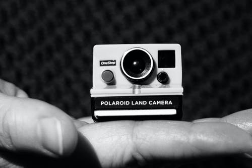 Free stock photo of camera, polaroid, small