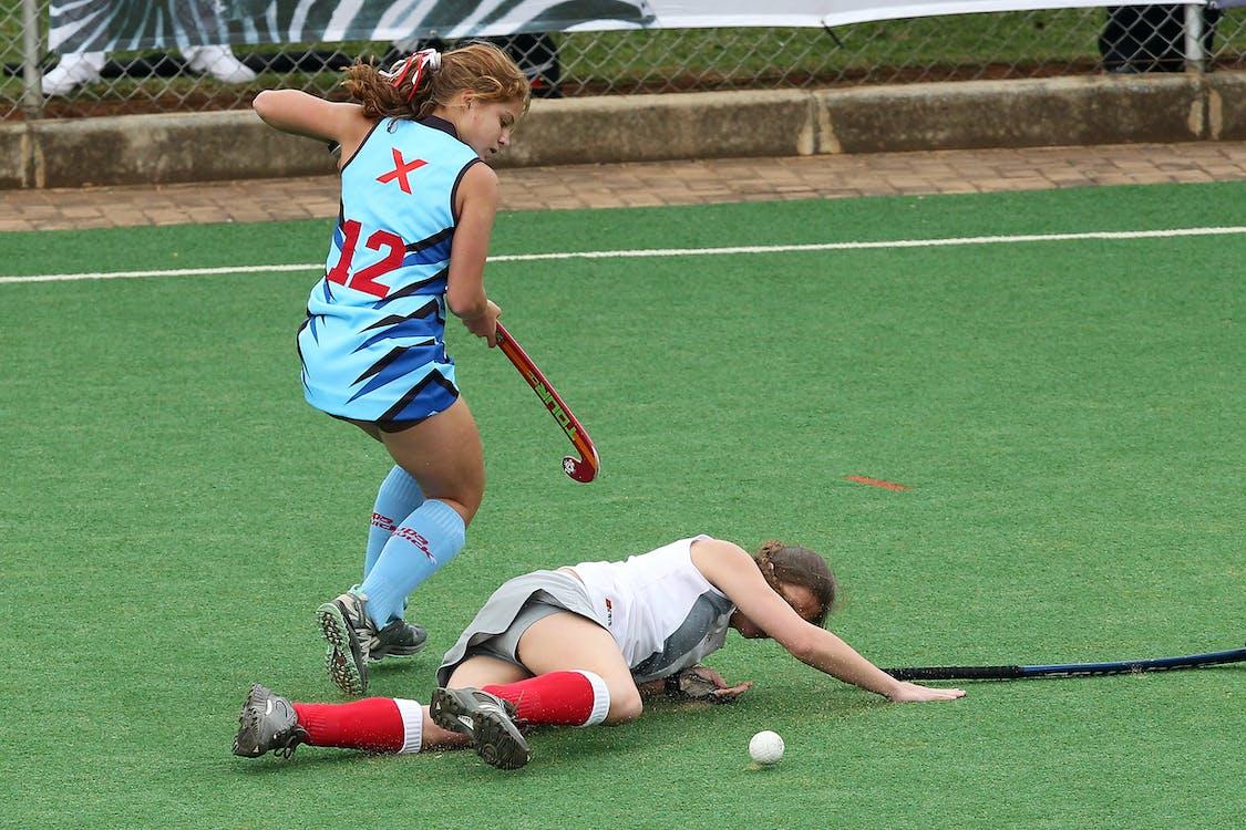Girls  Playing Hockey
