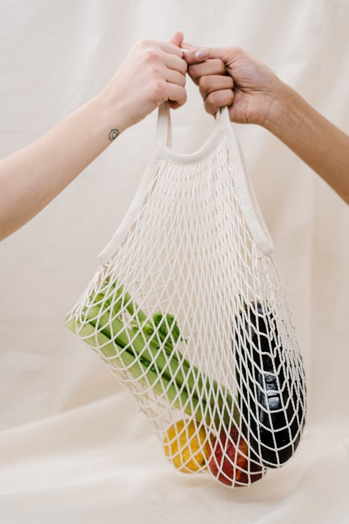 Vegetables Inside A Net Bag