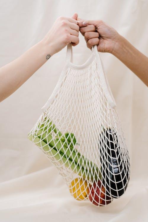 Vegetables Inside A Net Bag