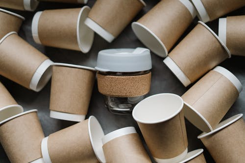 White And Brown Paper Cups