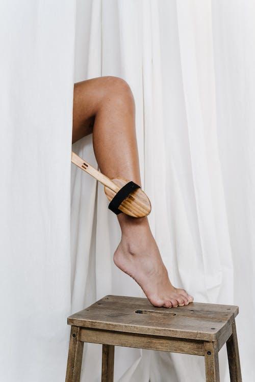 Gratis lagerfoto af bambus, Ben, børste, fod