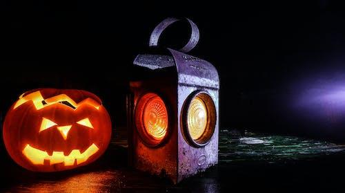 Gratis lagerfoto af græskar, græskarlygte, Halloween, lampe