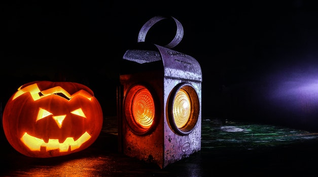 Free stock photo of lamp, halloween, lantern, pumpkin