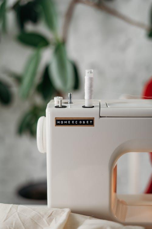 Close-Up Photo of Sewing Machine