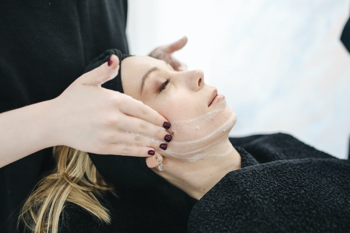 Woman Having Facial Care