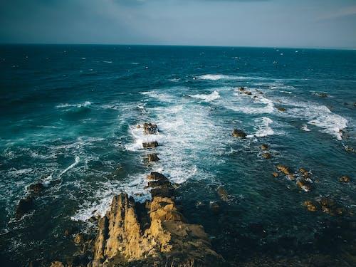 Free stock photo of 4k wallpaper, blue sea, blue sky, nature