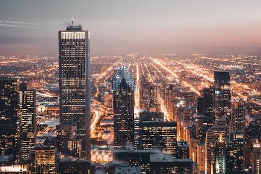 Free stock photo of city, dawn, sky, skyline