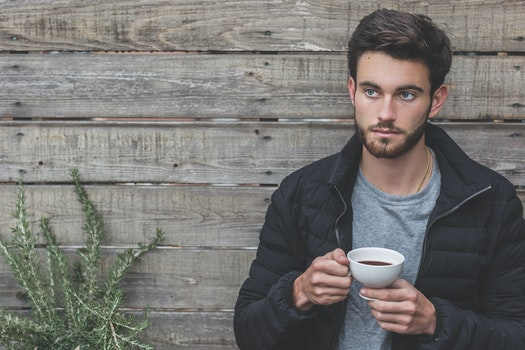 Free stock photo of fashion, man, cup, relaxing
