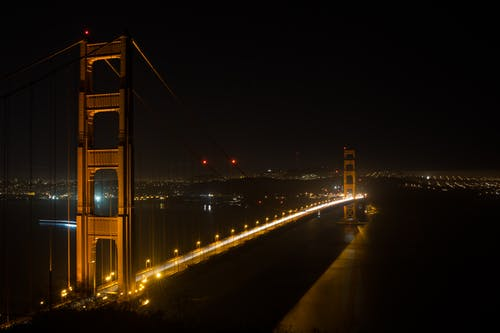 Lighted Brown Bridge