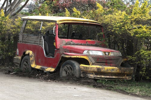 Free stock photo of ash fall, jeep, ttaal volcano