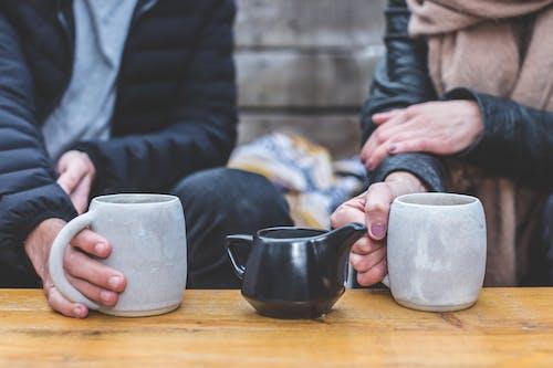 一對, 人, 咖啡, 喝 的 免費圖庫相片