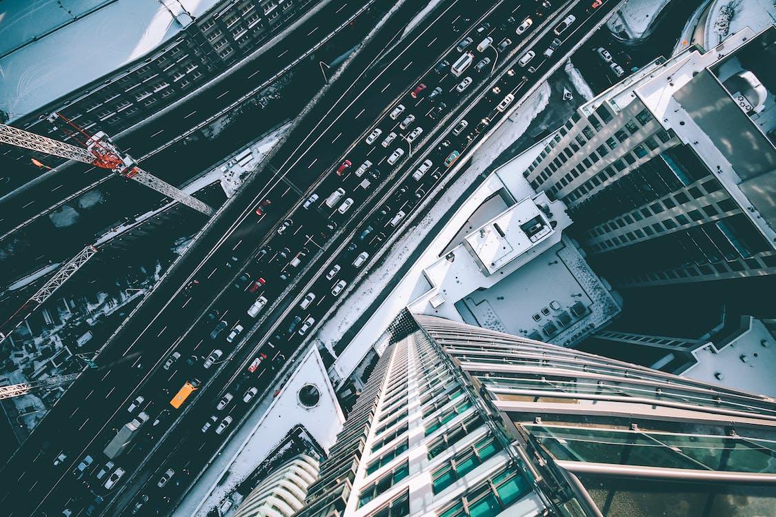 High-angle Photo of Cars on Street