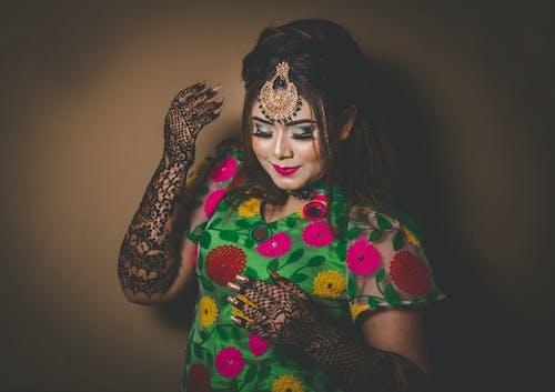 Free stock photo of beautiful woman, mehendi, wearing, woman