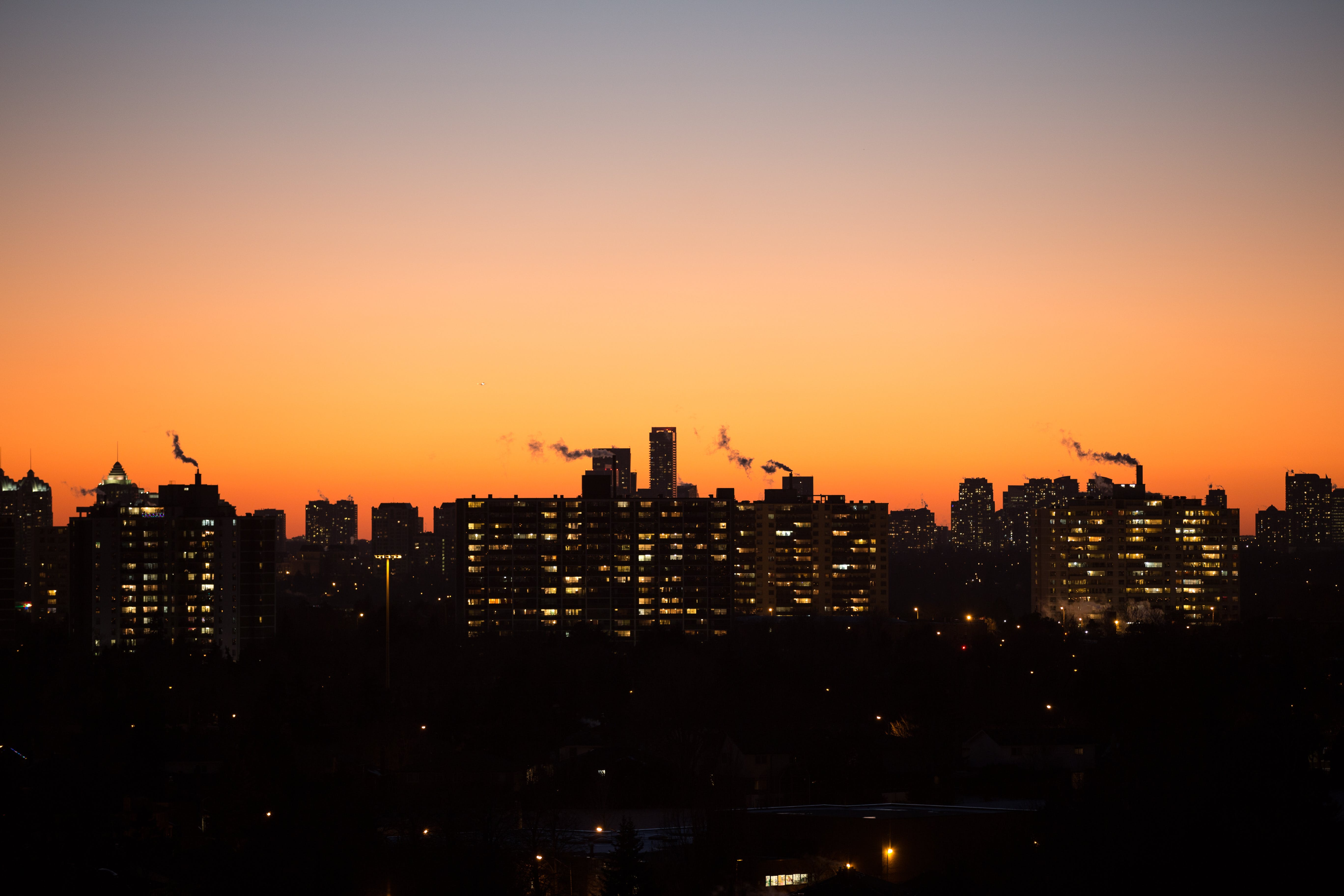 Silhouette of City Buildings