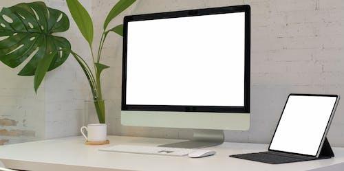 Foto profissional grátis de comprimido, computador, eletrônicos, monitor